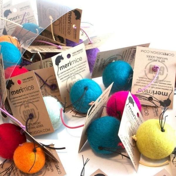 Merino wool toys for cats Meri Mice