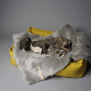Designer fake fur warm dog blanket 6