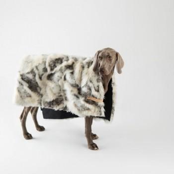 Two-tone faux fur dog blanket TÖSSE