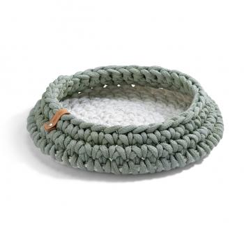 Make them Roar luxurious designer knitted cat basket