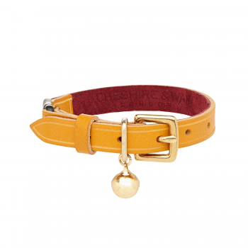 Make them Roar leather cat collar with breakaway safety clip 3