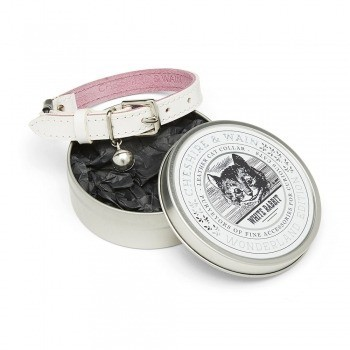 Cat collar gift tin white rabbit
