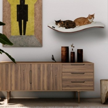 Wall-mounted wave shelf SOFT 3