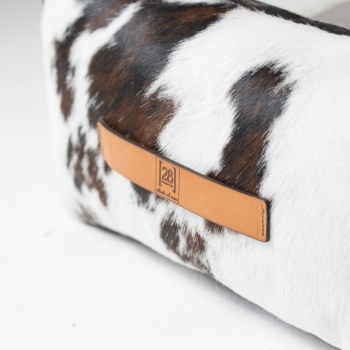 Cowhide leather dog bed 4