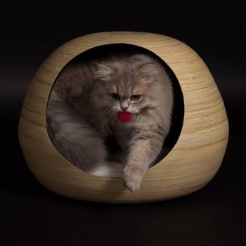 Black bamboo cat ball 1