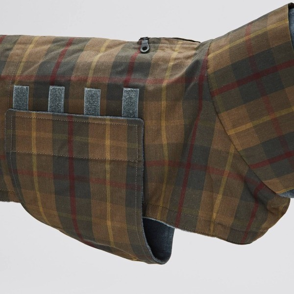 Tartan waterproof dog jacket 4