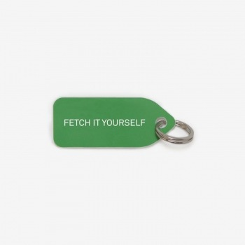 Green dog collar tag | Fetch it yourself