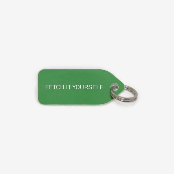 Green dog collar tag | Fetch it yourself