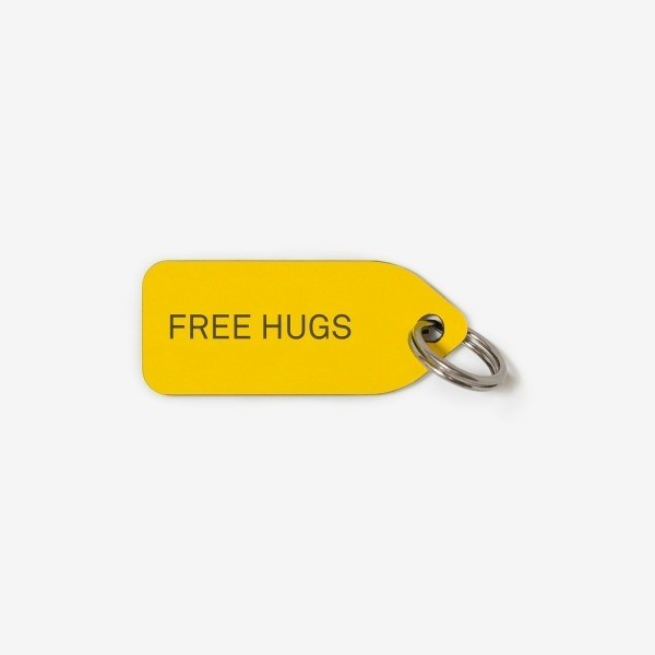 Free Hugs dog collar tag Make them Roar