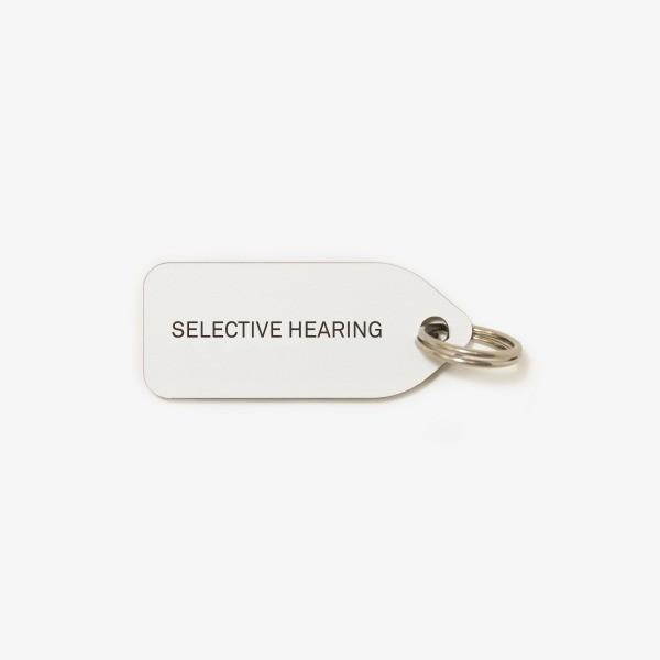 Selective Hearing dog collar tag Growlee | 2 colours