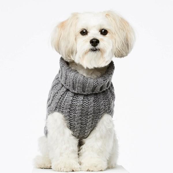 Grey cashmere and merino jumper 1