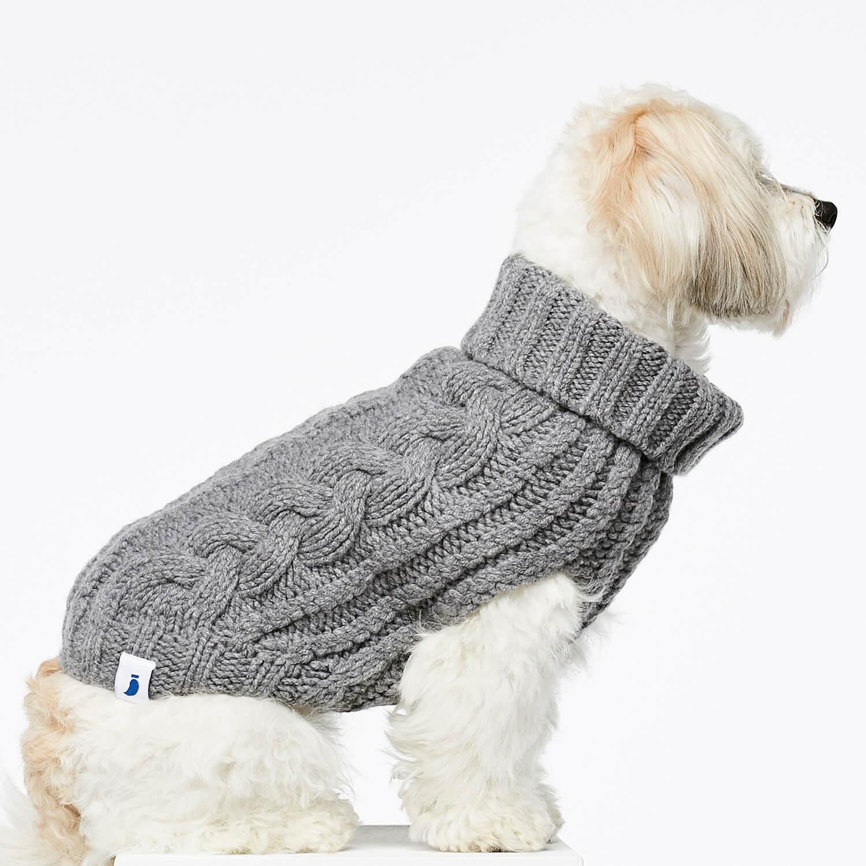 Grey Cashmere Amp Merino Wool Knitted Dog Jumper Make Them
