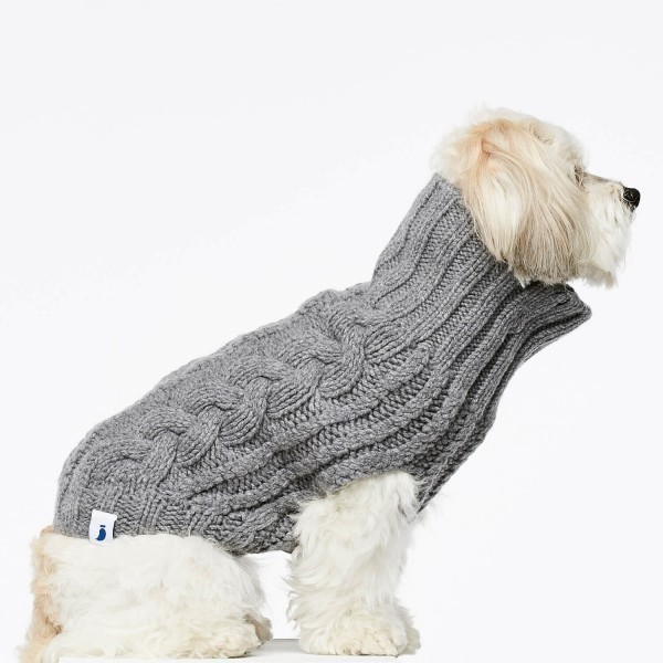 Grey cashmere and merino jumper 3