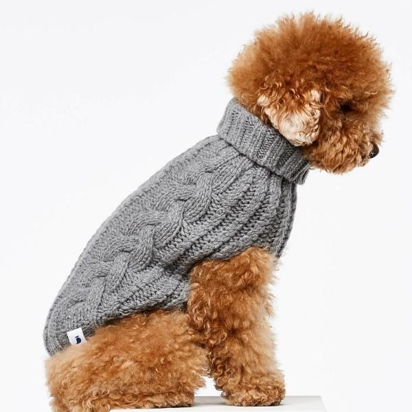 Grey cashmere and merino jumper 4