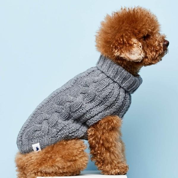 Grey cashmere and merino jumper 5