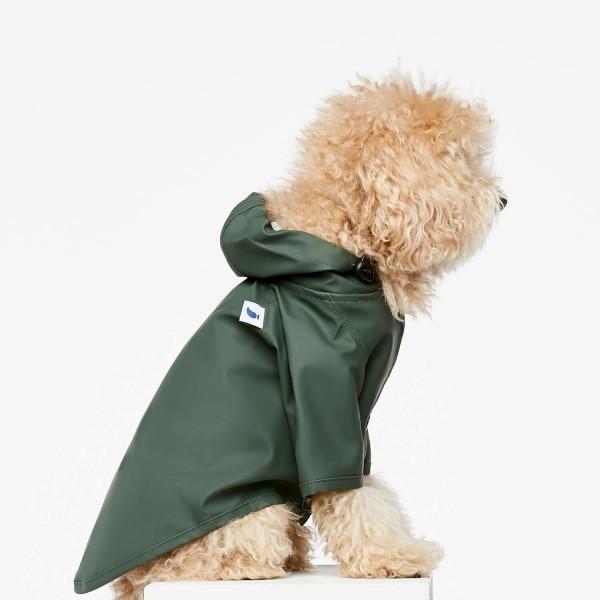 Green fisherman dog raincoat Sarah