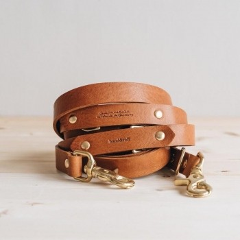 Hands-free leather dog lead Lasso