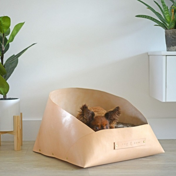 Luxurious designer leather dog bed 1