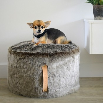 Raised dog bed PUF