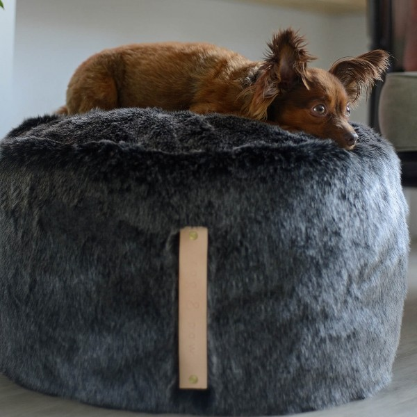 Raised dog bed PUF
