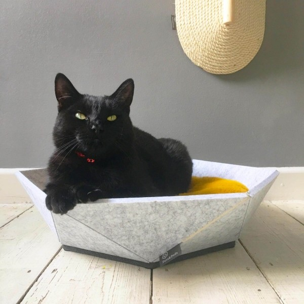 Small pet bed made from recycled felt | Atomo