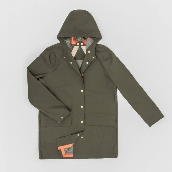 Olive dog walking raincoat LONDON