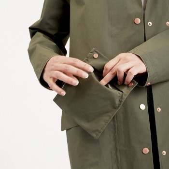 Olive dog walking raincoat | London