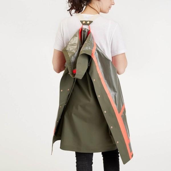 Olive dog walking raincoat LONDON