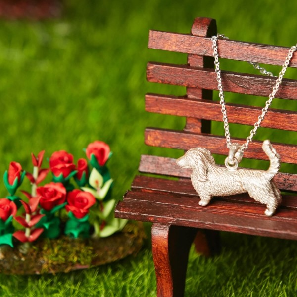 Dachshund pendant from recycled silver AXEL
