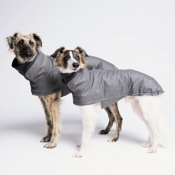 Grey water-repellent dog coat BROOKLYN