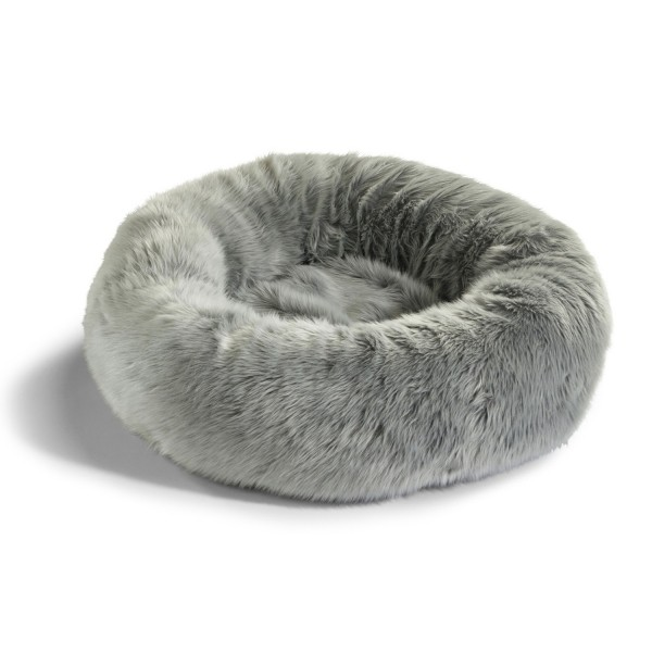 Faux fur doughnut cat bed LANA