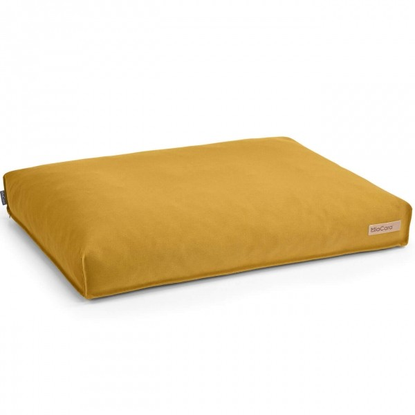 MiaCara Stella classic dog cushion SAFFRON