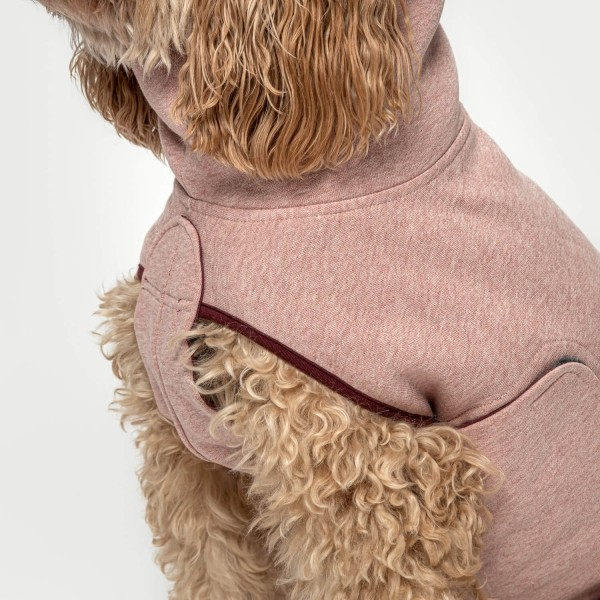 Windproof rose knit & jersey dog jumper DORSET