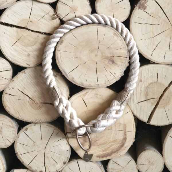 Cream rope collar with elegant hardware RUFF