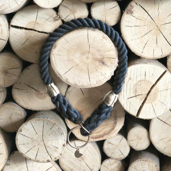Grey rope collar with elegant hardware RUFF