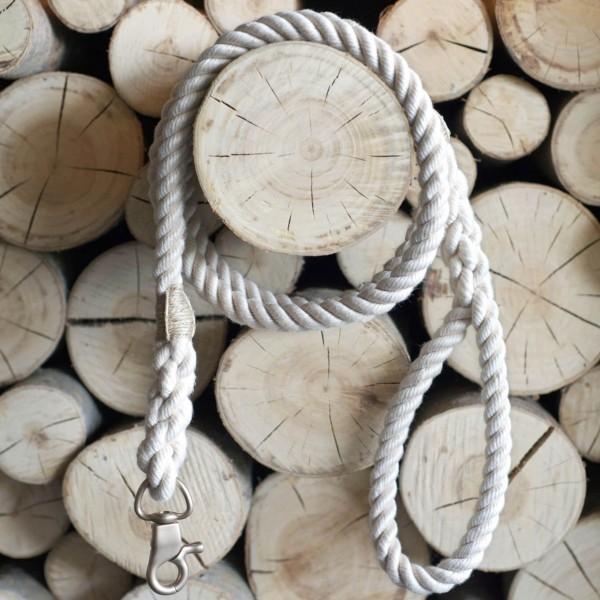 Cream rope lead with elegant hardware RUFF