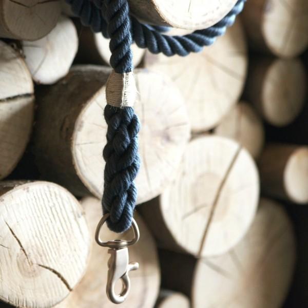 Grey rope lead with elegant hardware RUFF