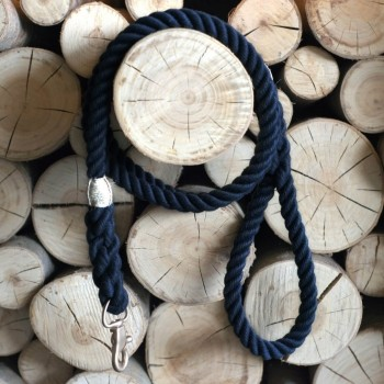 Navy rope lead with elegant hardware RUFF