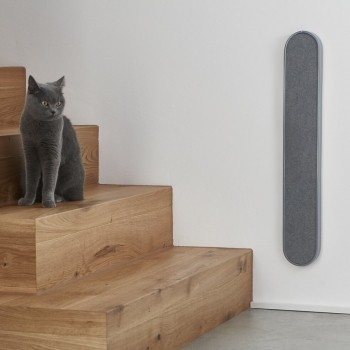 Slim wall-mounted cat scratcher GREY VOLTO