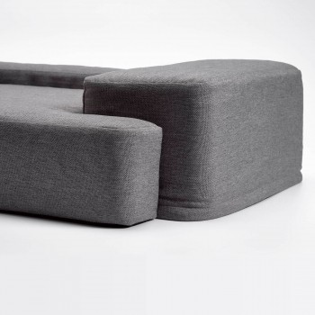 Grey geometric memory foam dog SOFA