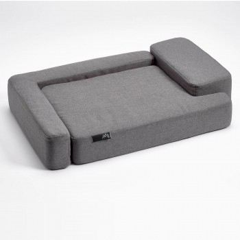 Grey geometric memory foam dog SOFA