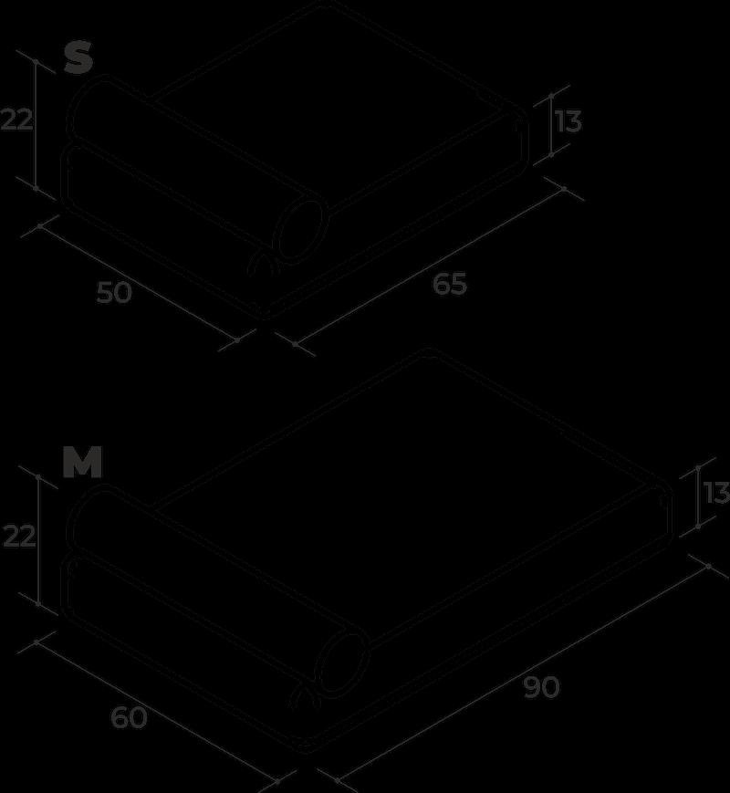 Grey geometric memory foam dog bed ROUND