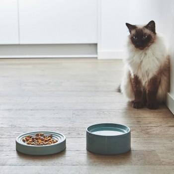 MiaCara Piatto whisker-friendly slow-feeder bowl PINE