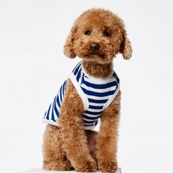 Blue stripe cotton dog body DANIEL