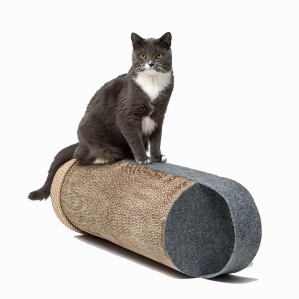 Cardboard cat scratcher grey LILA ROPE