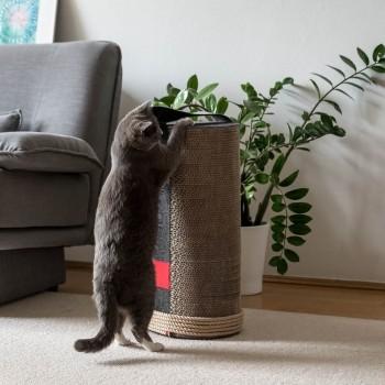 Cardboard cat scratcher dark grey LILA ROPE