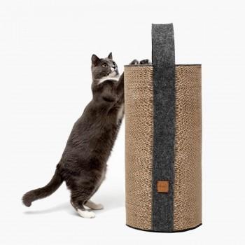 Cardboard cat scratcher dark grey LILA