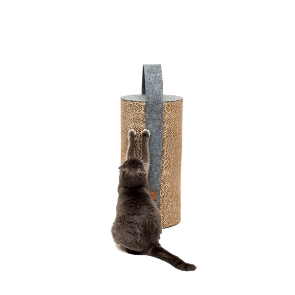 Cardboard cat scratcher grey LILA