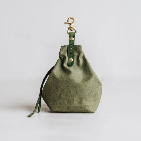 Green canvas treat bag YORK