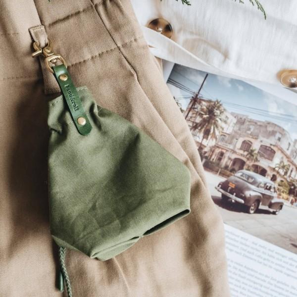 Green canvas treat bag YORK